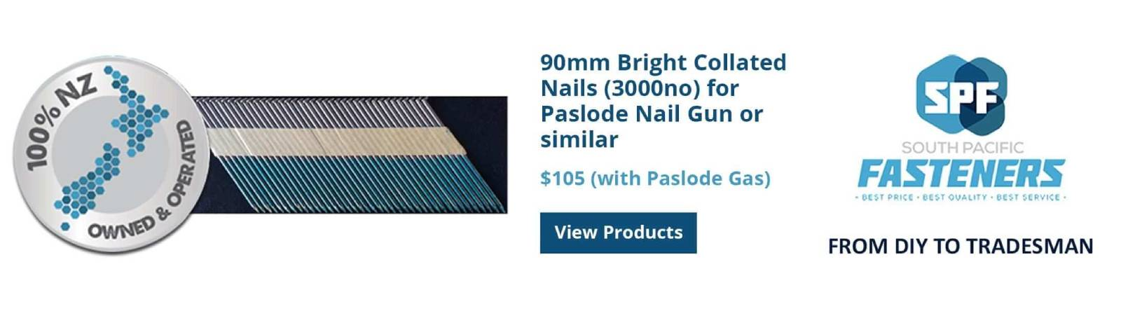 Bright Collated Nails - SP Fasteners
