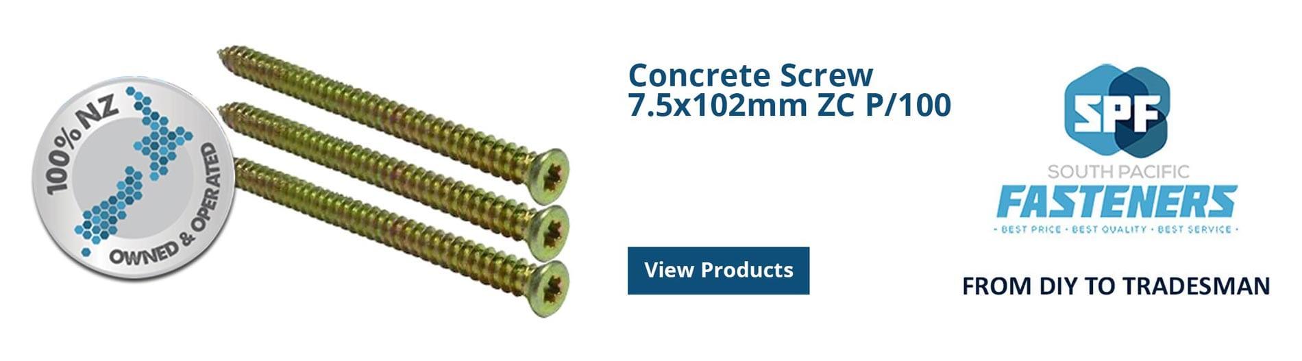 Concrete Screws - SP Fasteners